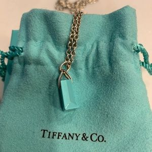 Tiffany & Co. Jewelry - Tiffany & Co. Shopping Bag Charm and Chain